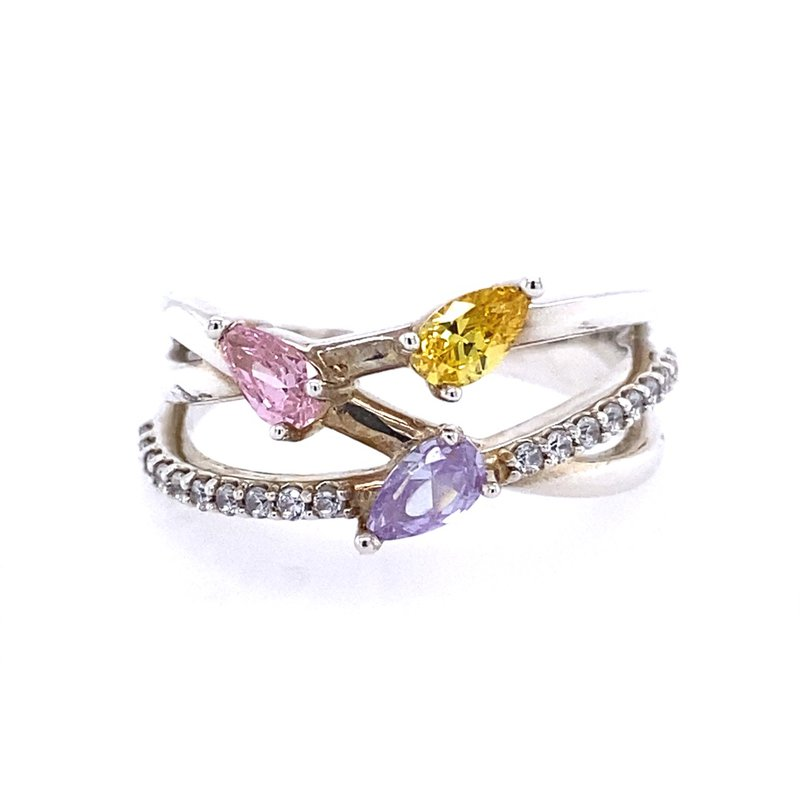 B&C Collections Freeform Three Stone Mother's Ring