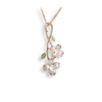 Dogwood & Pearl Necklace