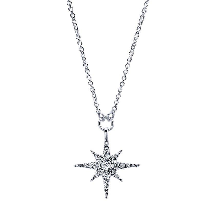 Gabriel & Co. -  IN-STORE COLLECTION Diamond Starburts Pendant
