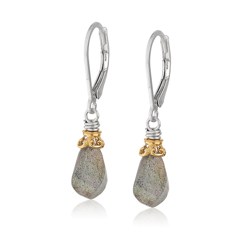 Anatoli Jewelry Labradorite Drop Earrings