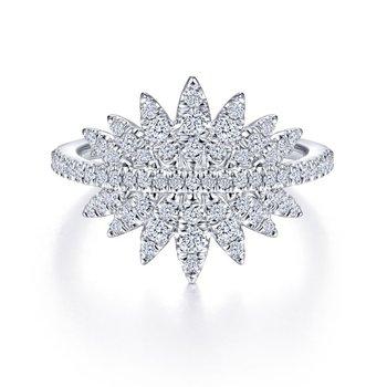 Diamond Pave Burst Ring
