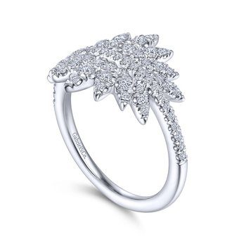 Diamond Pave Burst Ring