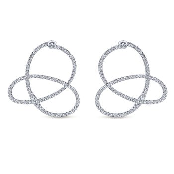 Diamond Freeform Earrings