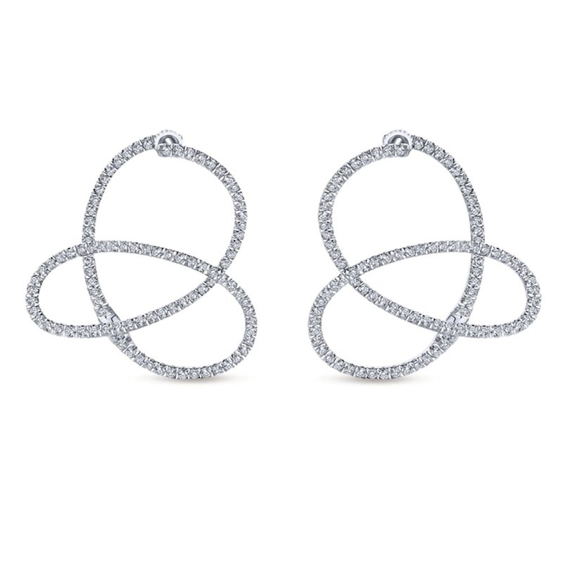 Gabriel & Co. -  IN-STORE COLLECTION Diamond Freeform Earrings