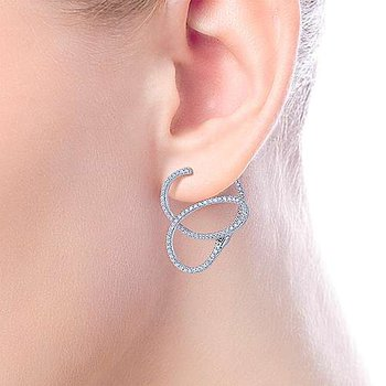 Diamond Freeform Earrings