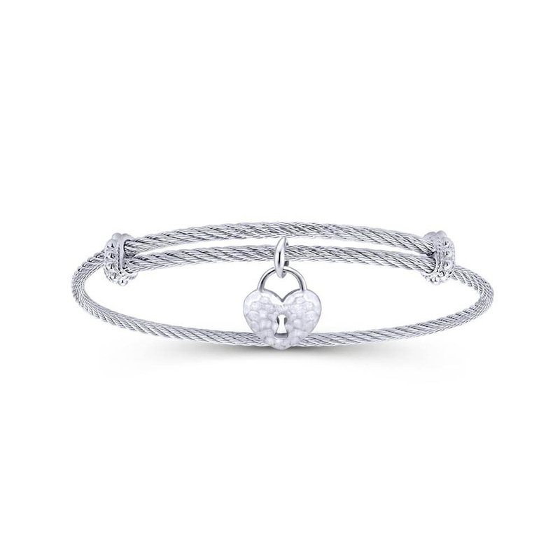 Gabriel & Co. -  IN-STORE COLLECTION Heart Lock Bangle