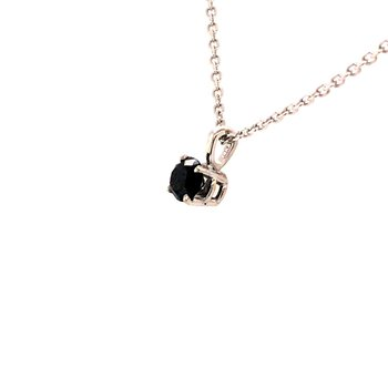 14K White Gold .62Ctw Black Diamond Pendant