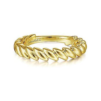 Tilted Leaf Stackable Ring