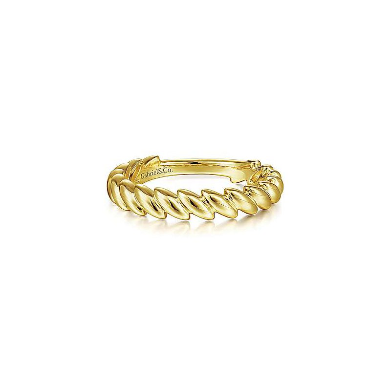 Gabriel & Co. -  IN-STORE COLLECTION Tilted Leaf Stackable Ring