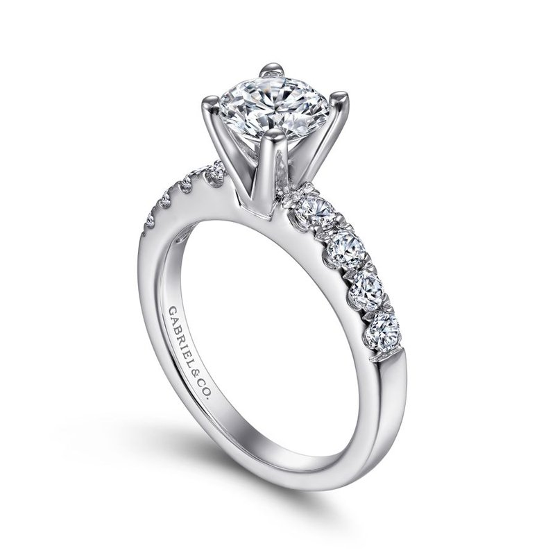 Gabriel & Co. -  IN-STORE COLLECTION Graduating Side Stone Engagement Ring