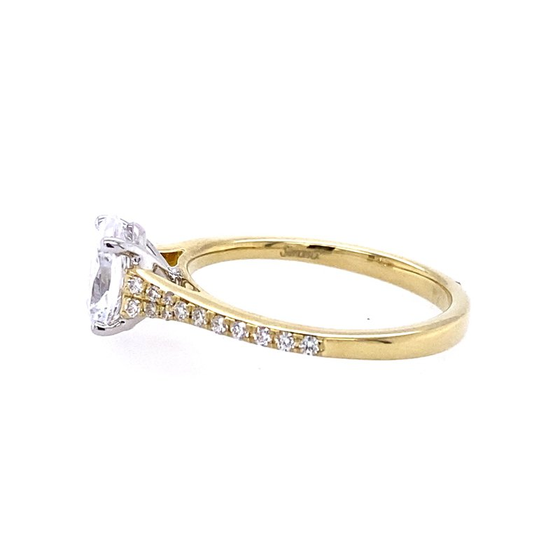Simon G IN-STORE COLLECTION Side Stone Engagement Ring