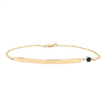 Birthstone Engravable Bar Bracelet