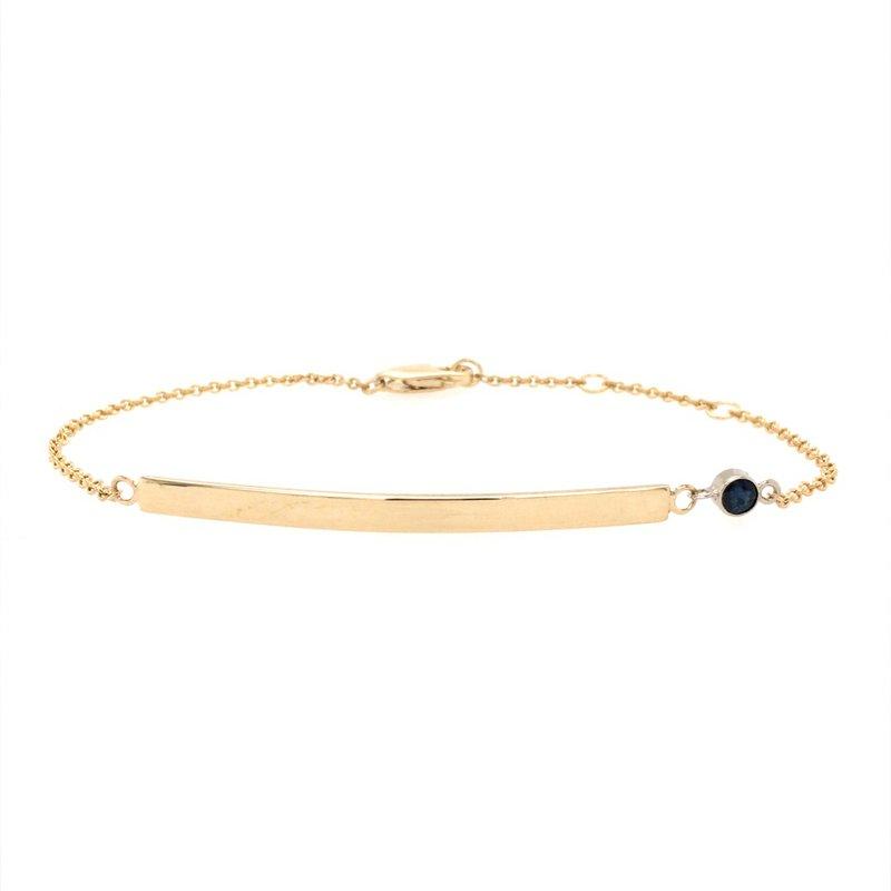 B&C Creations Birthstone Engravable Bar Bracelet
