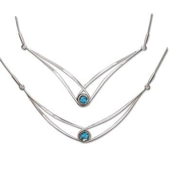 Gemstone Swing Necklace