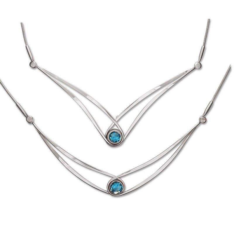 E. L. Designs Gemstone Swing Necklace