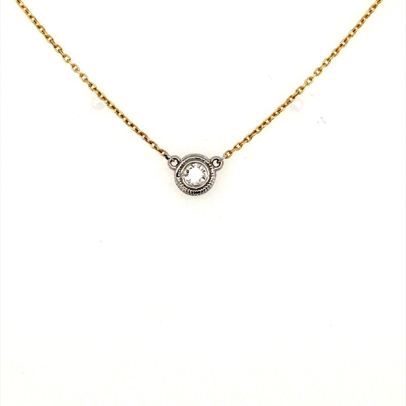 B&C Collections Two Tone Diamond Necklace