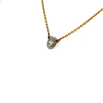 Two Tone Diamond Necklace