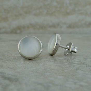 White Mother of Pearl Studs