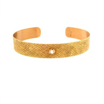 Crosshatch & Diamond Bracelet