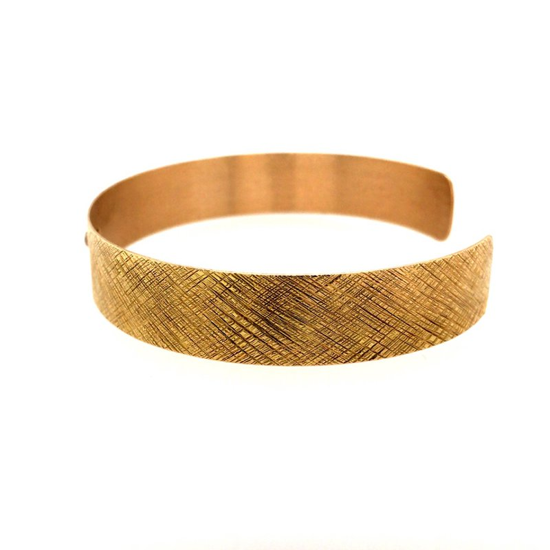 BRIAN'S VAULT Crosshatch & Diamond Bracelet