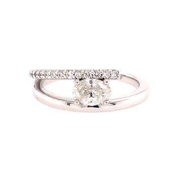 Unique Oval Diamond Ring
