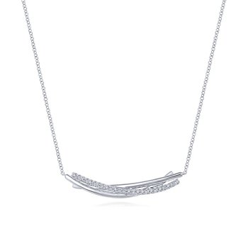White Sapphire Bar Necklace