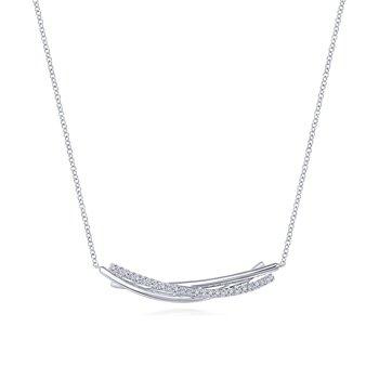 White Sapphire Bar Necklace