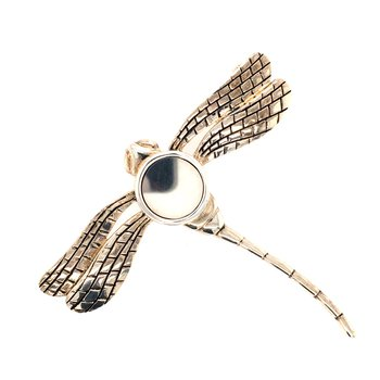 Engravable Dragonfly Brooch
