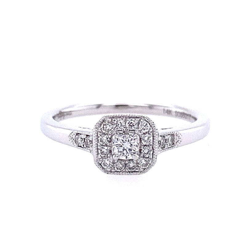 Gabriel & Co. -  IN-STORE COLLECTION 14KW Diamond Engagement Ring