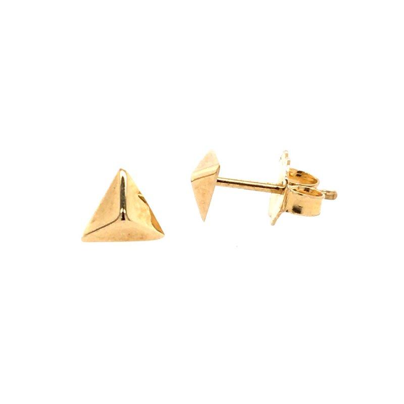 BRIAN'S VAULT Gold Pyramid Studs