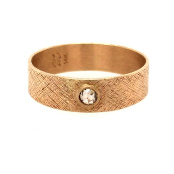 Champagne Rose Cut Diamond Band