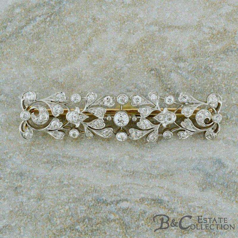 B&C Estate Collection Old Mine Cut Diamond Brooch
