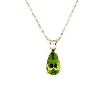 Peridot and Opal Pendant
