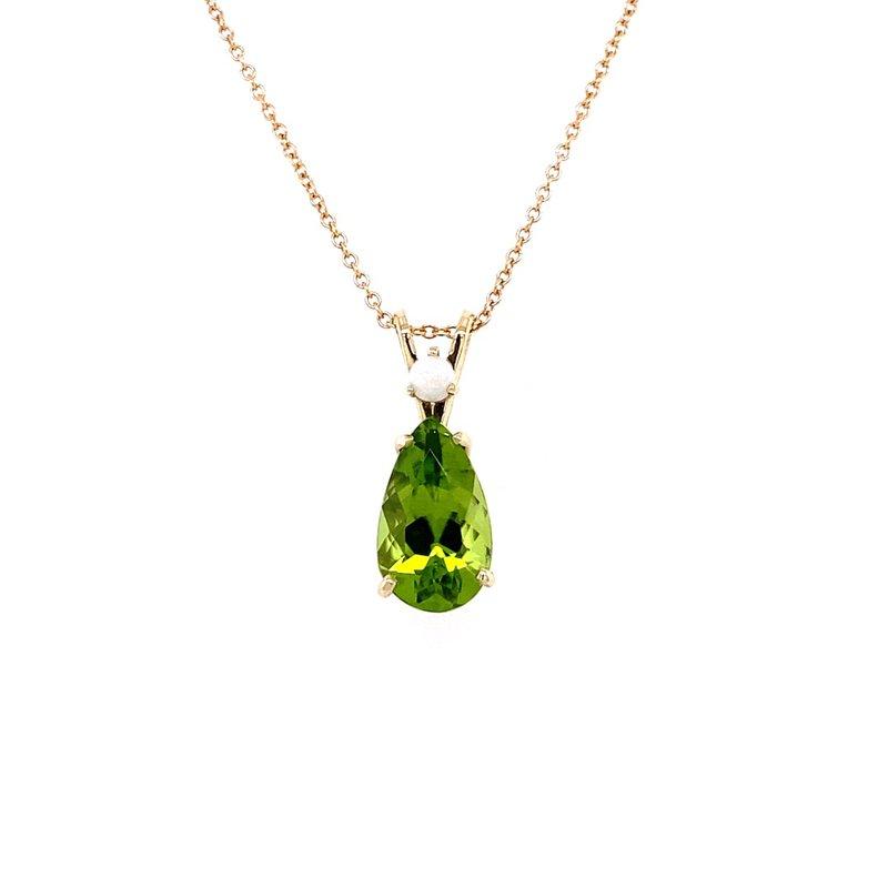 B&C Creations Peridot and Opal Pendant