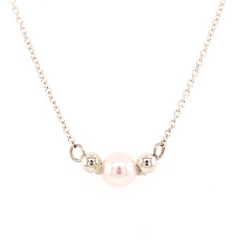 Akoya Pearl Necklace with Beads