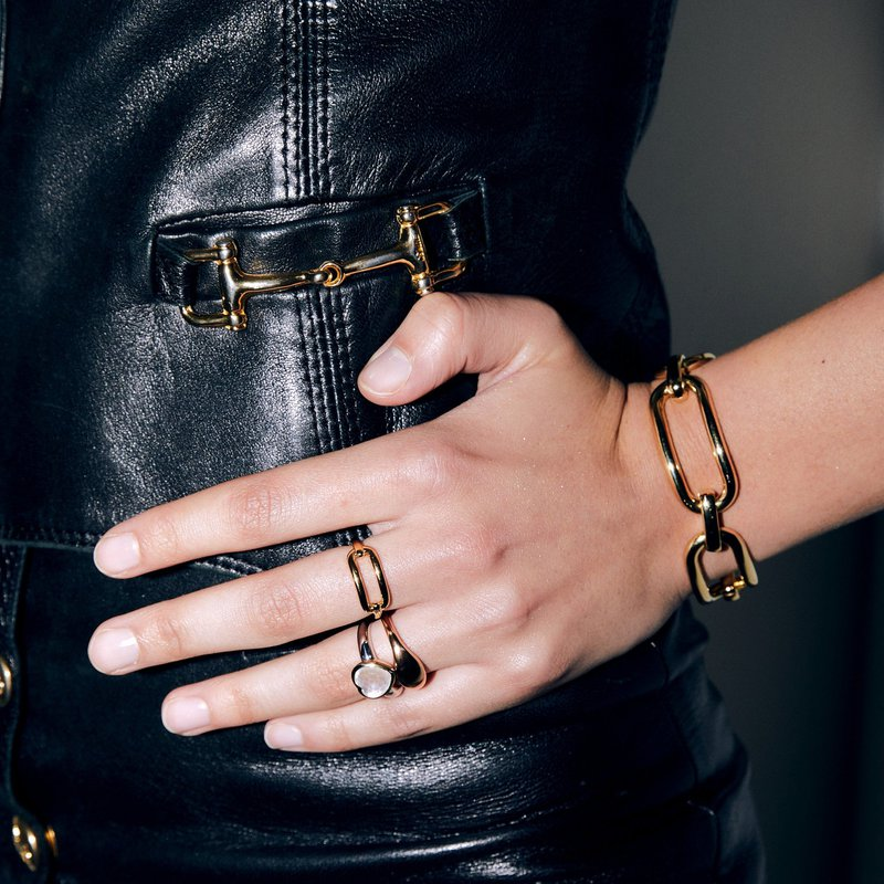 Ti Sento Gold Plated Open Ring