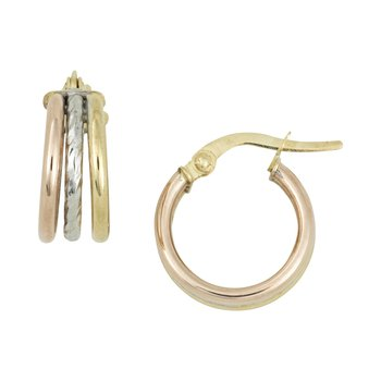 Three Tone Hoops