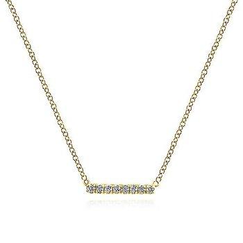 Petite Pave Bar Necklace