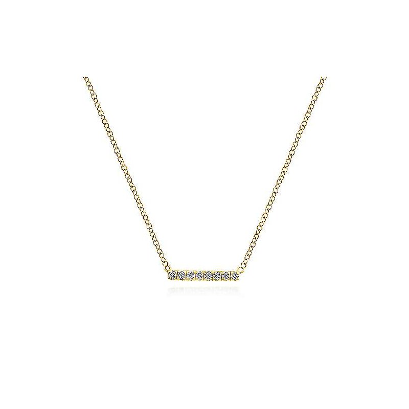 Gabriel & Co. -  IN-STORE COLLECTION Petite Pave Bar Necklace