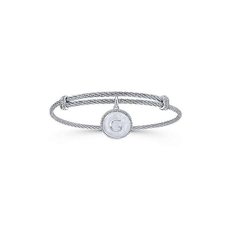 "Gabriel & Co. -  IN-STORE COLLECTION Initial ""G"" Charm Bangle"