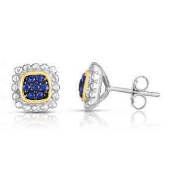 Sapphire Textured Earrings