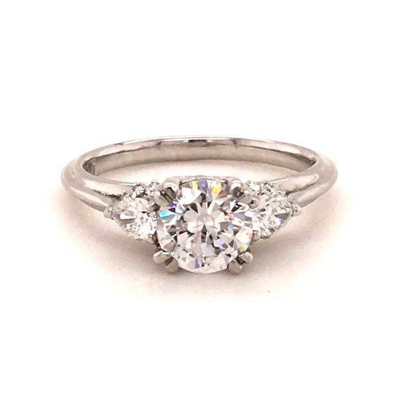 B&C Collections Platinum Three-stone Engagement Ring