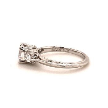 Platinum Three-stone Engagement Ring