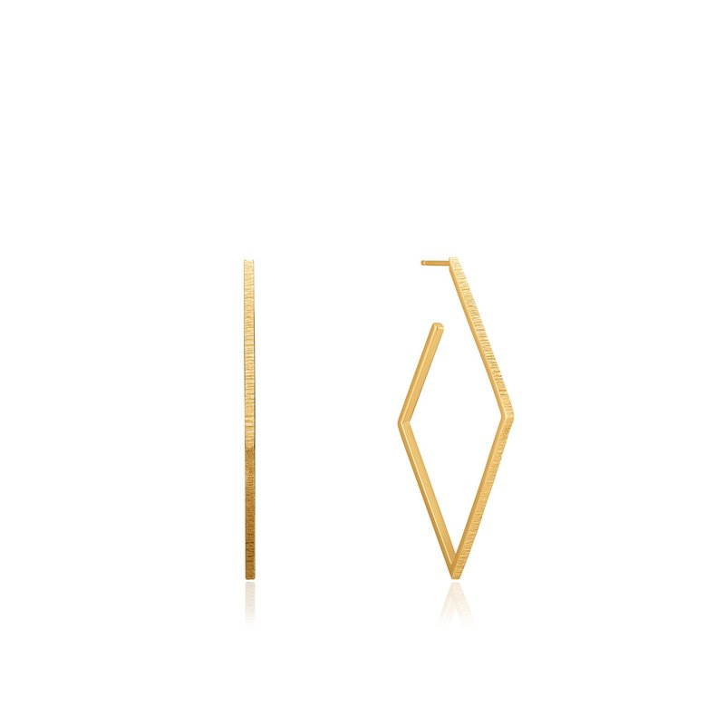 Ania Haie Textured Diamond Shaped Hoops