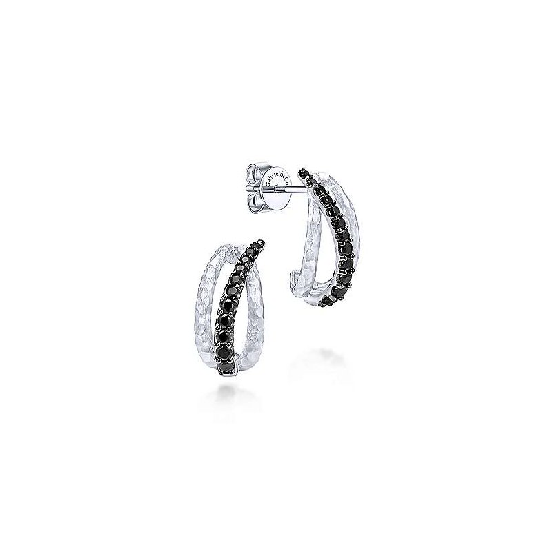 Gabriel & Co. -  IN-STORE COLLECTION Black Spinel Drop Earrings