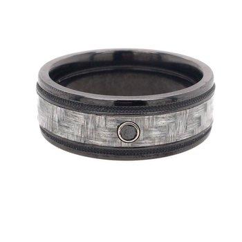 Zirconium and Carbon Fiber  Band