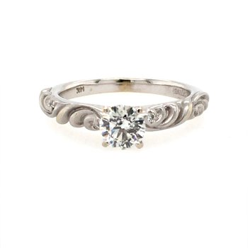 Twist Solitaire Engagement Ring