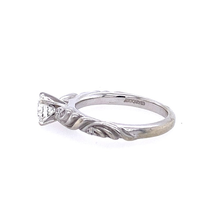 B&C Estate Collection Twist Solitaire Engagement Ring