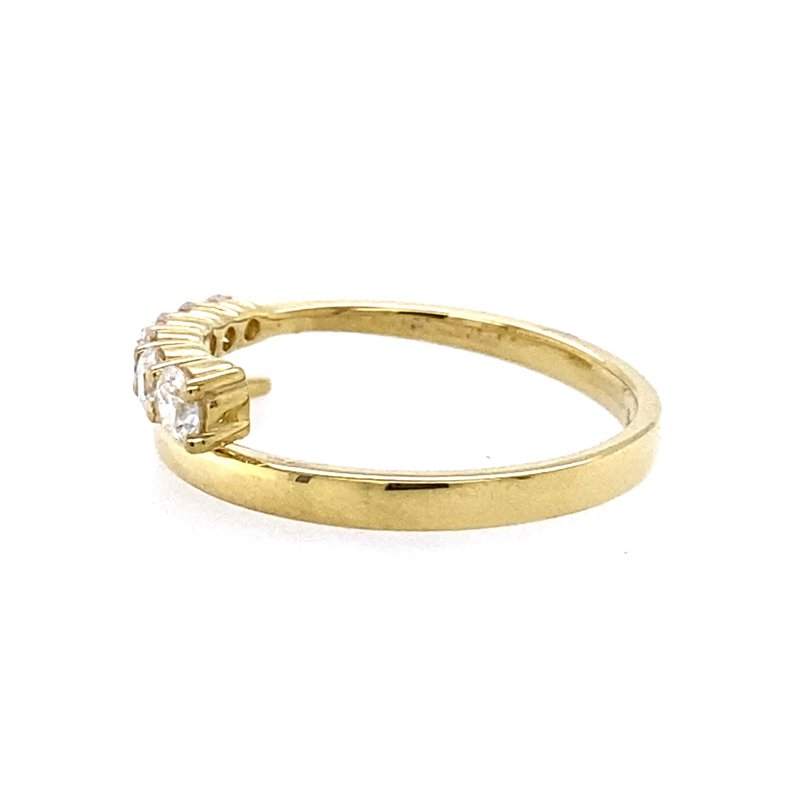 Simon G IN-STORE COLLECTION 18K Yellow Diamond Bypass Ring