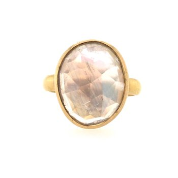 Blue Moonstone Slice Ring